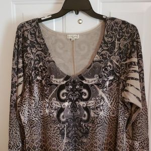 LIVE AND LET LIVE TUNIC TOP 3X